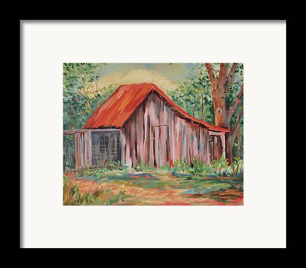 Chicken Coops Framed Print featuring the painting Russel Crow by Ginger Concepcion