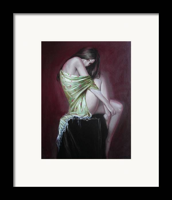 Art Framed Print featuring the painting Russian Model by Sergey Ignatenko