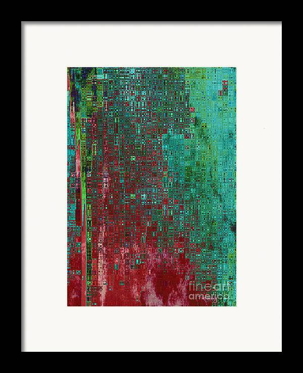 Abstract Framed Print featuring the digital art Rust Abstract by Carol Groenen