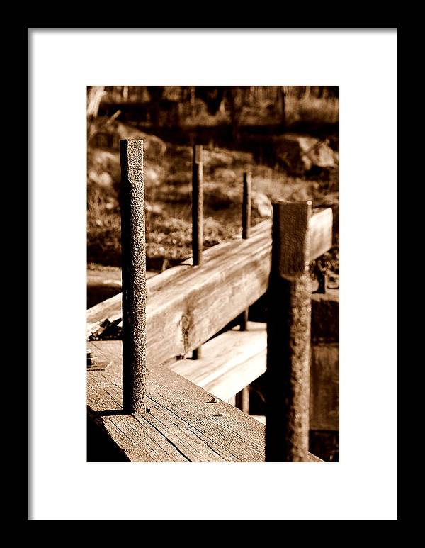 Wood Framed Print featuring the photograph Rust And Wood by Caroline Clark