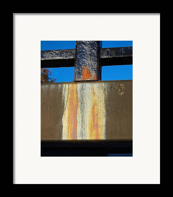 Bridge Framed Print featuring the photograph Rust by Heather S Huston