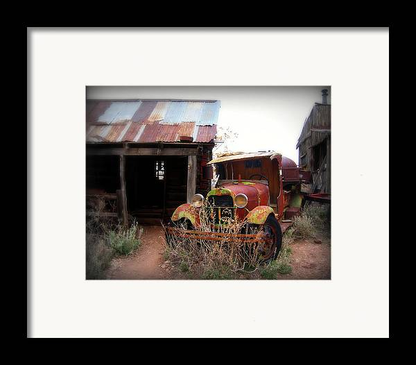 Car Framed Print featuring the photograph Rusted Classic by Perry Webster