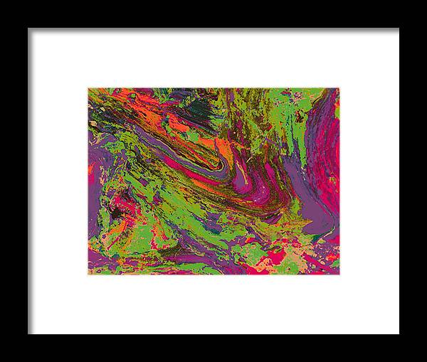 Abstract Prints Framed Print featuring the digital art Rusted Metal 1 by Teo Santa