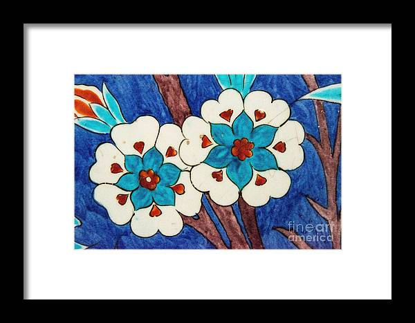 Istanbul Framed Print featuring the photograph Rustem Pasha Mosque Flower Tile by Bob Phillips