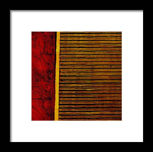 Rustic Framed Print featuring the painting Rustic Abstract One by Michelle Calkins