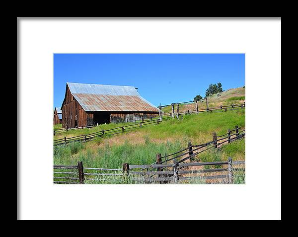 Rustic Framed Print featuring the photograph Rustic Barn by Linda Larson