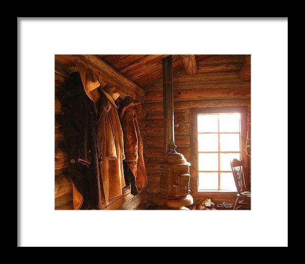 Western Rustic Cabin Framed Print featuring the photograph Rustic Cabin by Jessica Westermeyer