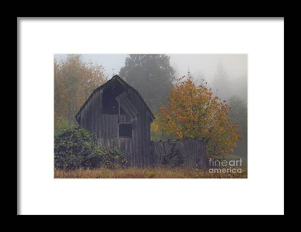 Landscape Framed Print featuring the photograph Rustic Fall by Larry Keahey