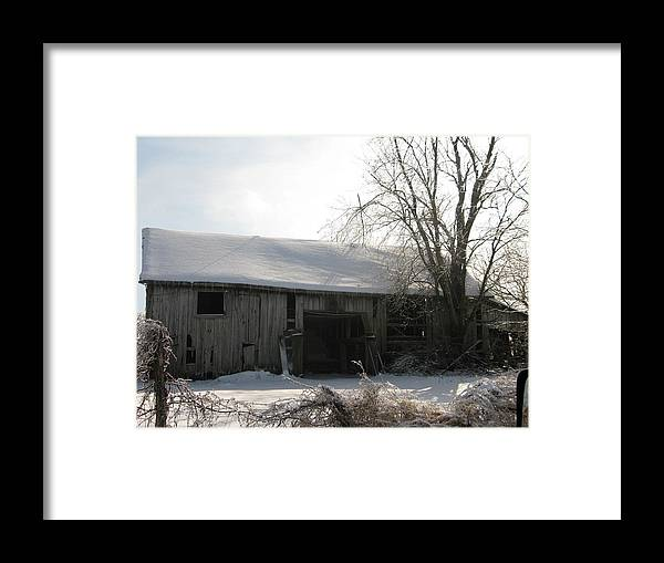 Landscape Framed Print featuring the photograph Rustic Old Barn by Martie DAndrea
