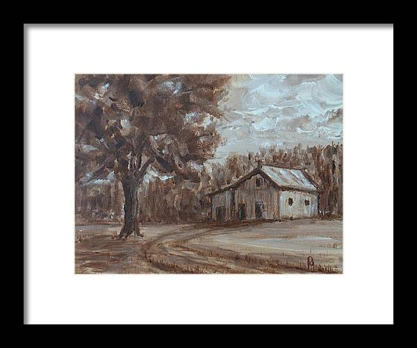 Barn Framed Print featuring the painting Rustic by Pete Maier