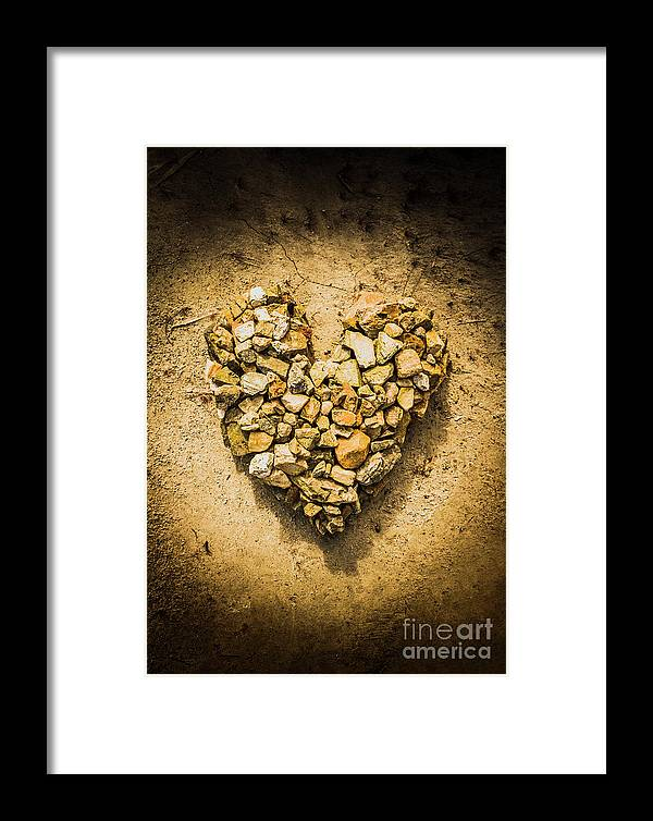 Love Framed Print featuring the photograph Rustic Rock Romance by Jorgo Photography - Wall Art Gallery