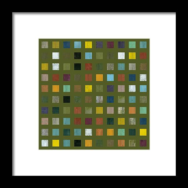 Abstract Framed Print featuring the digital art Rustic Wooden Abstract Lx by Michelle Calkins