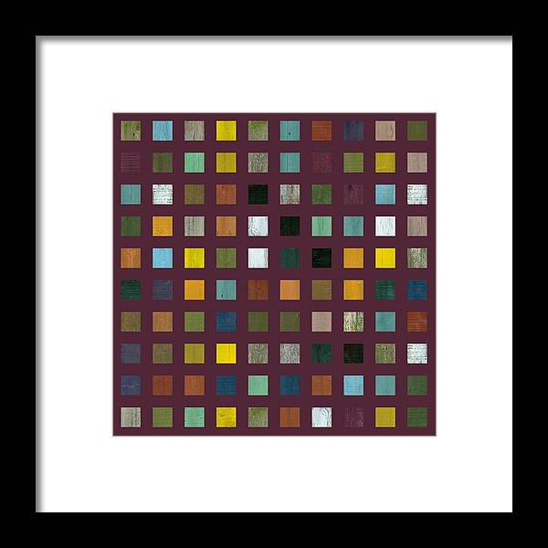 Abstract Framed Print featuring the digital art Rustic Wooden Abstract Vlll by Michelle Calkins