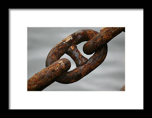 Chain Framed Print featuring the photograph Rusty Chain by Hans Jankowski