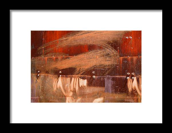 Bolt Framed Print featuring the photograph Rusty Container by Martine Affre Eisenlohr