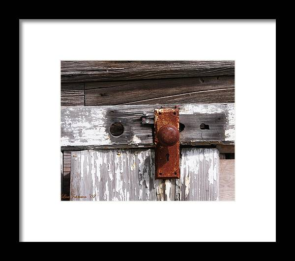 Door Framed Print featuring the photograph Rusty Entry by Lisa Johnston
