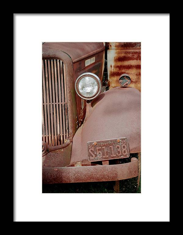 Car Framed Print featuring the photograph Rusty by Flavia Westerwelle