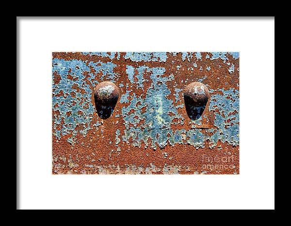Rivet Framed Print featuring the photograph Rusty Rivets by Olivier Le Queinec