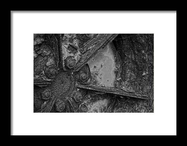 Wheel Framed Print featuring the photograph Rusty Wheel by John Cox