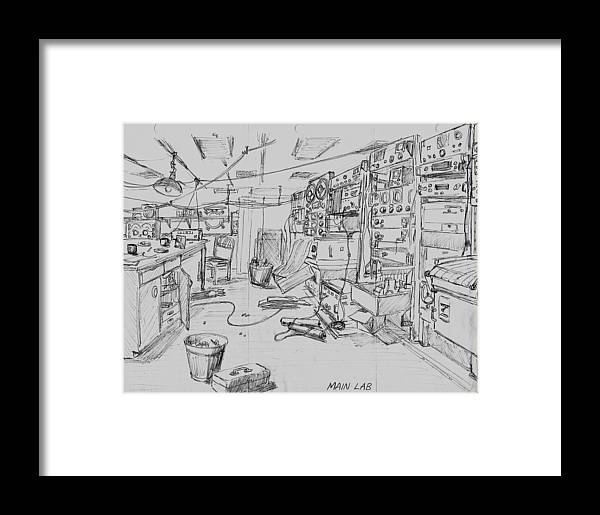 Oceanography Framed Print featuring the drawing Rv Chain Dry Lab by Vic Delnore