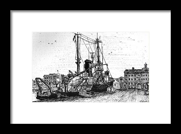 Transportation Framed Print featuring the drawing Rv Chain by Vic Delnore