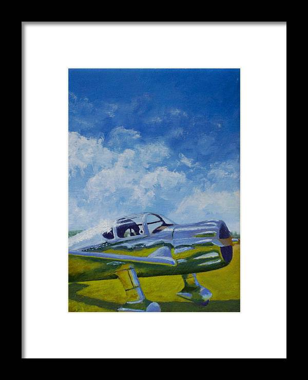 Aviation Framed Print featuring the painting Ryan Scw by Ron Smothers