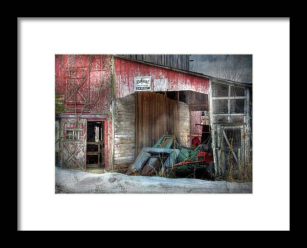 Old Red Barn Framed Print featuring the photograph Rye Valley Stock Farm by Lori Deiter