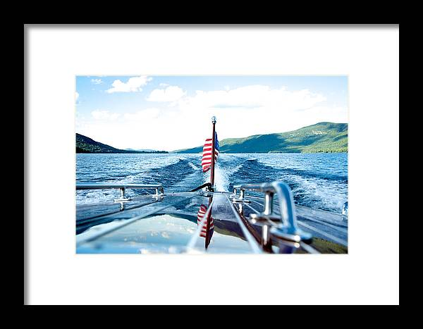 Flag Framed Print featuring the photograph Ryp'd View Of Lake George, Ny by Michael Donohue