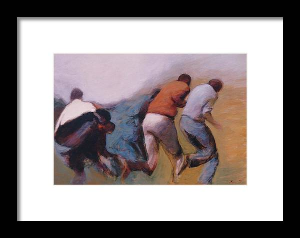 Apartheid Framed Print featuring the painting S African Series II by James LeGros