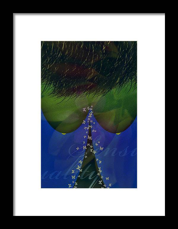 Sensuality Framed Print featuring the photograph S E N S U A L I T Y by Edwin Loyola