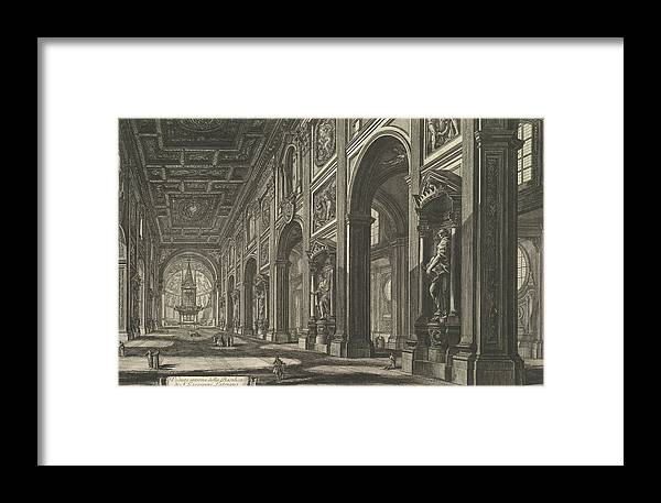 18th Century Art Framed Print featuring the relief S. Giovanni In Laterano. Interior by Giovanni Battista Piranesi