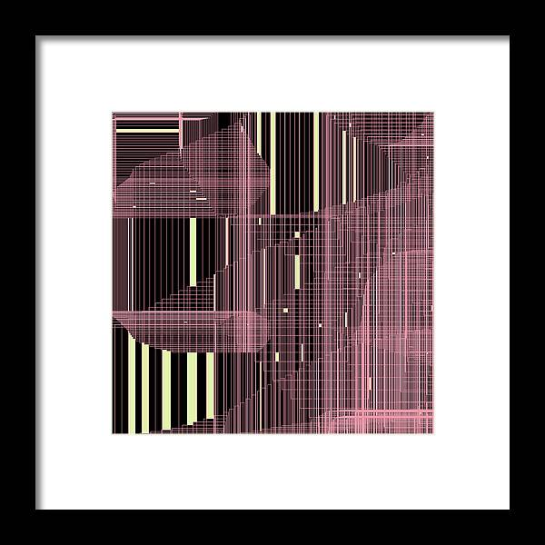 Abstract Framed Print featuring the digital art S.7.12 by Gareth Lewis
