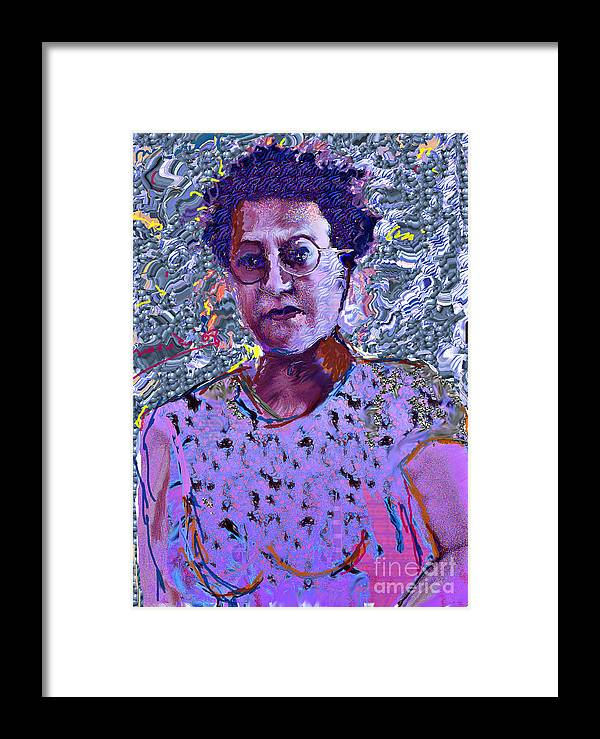 Portrait Framed Print featuring the mixed media Sabah by Noredin Morgan