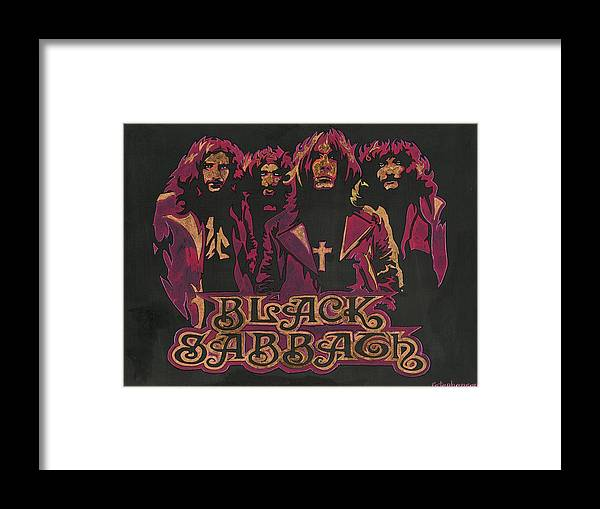 Rock And Roll Framed Print featuring the painting Sabbath by Ray Stephenson