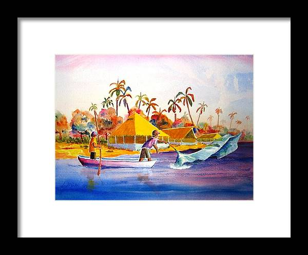 Net Fisherman Framed Print featuring the painting Sacraficio by Buster Dight