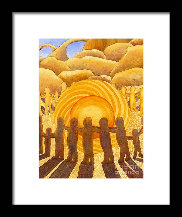 Chakra Framed Print featuring the painting Sacral Chakra by Catherine G McElroy