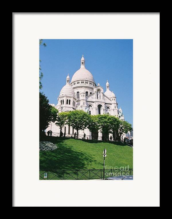 Church Framed Print featuring the photograph Sacre Coeur by Nadine Rippelmeyer