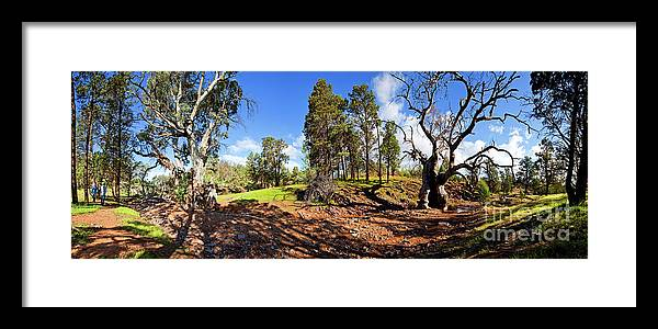 Sacred Canyon Flinders Ranges South Australia Australian Landscape Pano Panorama Outback Spring Framed Print featuring the photograph Sacred Canyon, Flinders Ranges by Bill Robinson