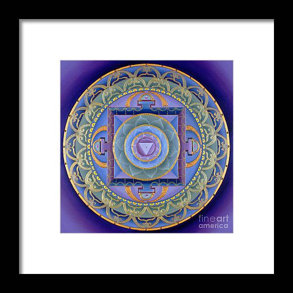Mandala Framed Print featuring the painting Sacred Feminine by Charlotte Backman