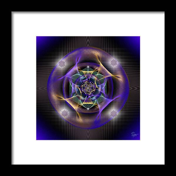 Endre Framed Print featuring the digital art Sacred Geometry 554 by Endre Balogh