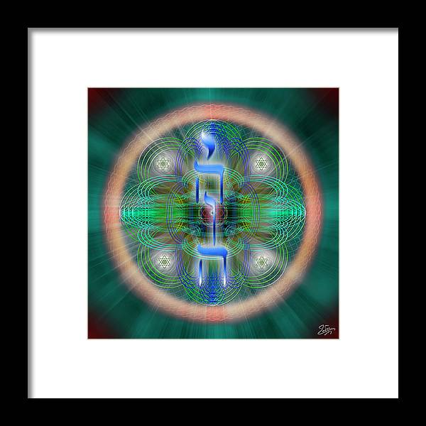 Endre Framed Print featuring the digital art Sacred Geometry 648 by Endre Balogh