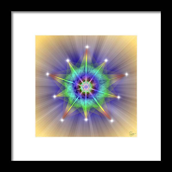 Endre Framed Print featuring the digital art Sacred Geometry 83 by Endre Balogh