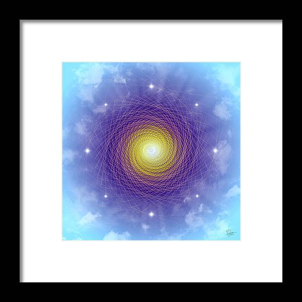 Endre Framed Print featuring the digital art Sacred Geometry 84 by Endre Balogh