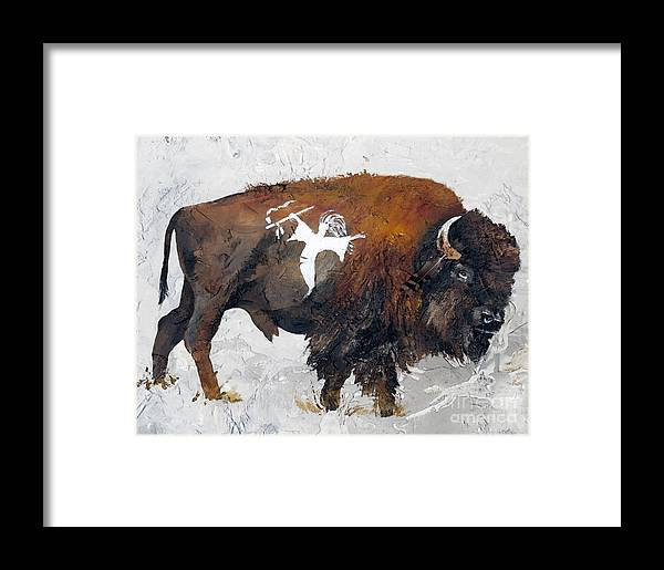 Southwest Art Framed Print featuring the painting Sacred Gift by J W Baker