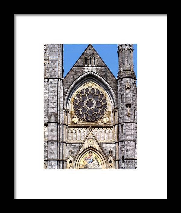 Ireland Framed Print featuring the photograph Sacred Heart Church Detail Roscommon Ireland by Teresa Mucha