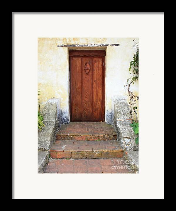 Door Framed Print featuring the photograph Sacred Heart Door by Carol Groenen