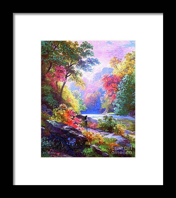Meditation Framed Print featuring the painting Sacred Landscape Meditation by Jane Small