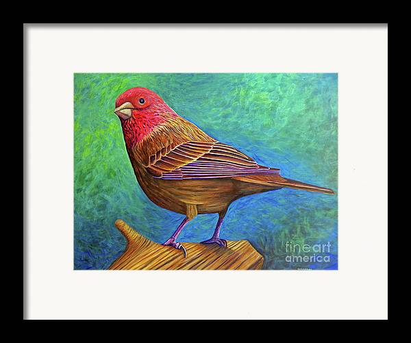 Bird Framed Print featuring the painting Sacred Space by Brian Commerford