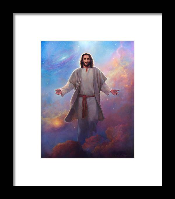 Jesus Framed Print featuring the painting Sacred Space by Greg Olsen