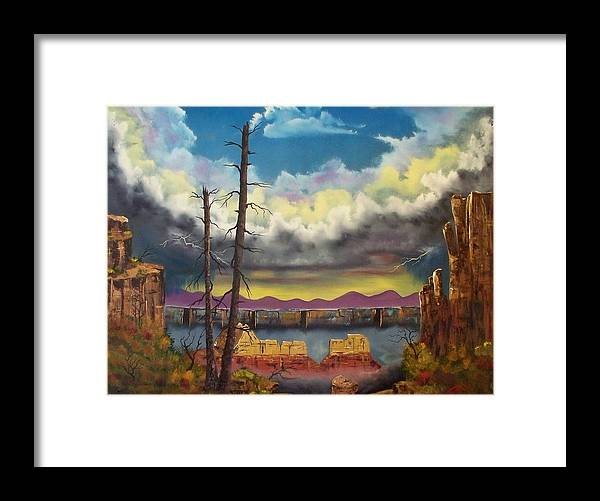 Painting Framed Print featuring the painting Sacred View by Patrick Trotter